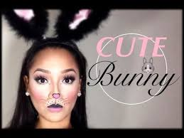 cute simple bunny makeup halloween tutorial youtube party