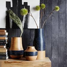 Wood Vases For Sale Speckled Wood Vases West Elm