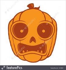 fine art frightened halloween jack o lantern stock illustration