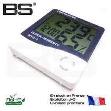 horloge bureau thermometre hygrometre horloge de table grand affichage bureau