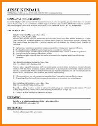How To Write A Successful Resume Good Summary For Resume Cbshow Co