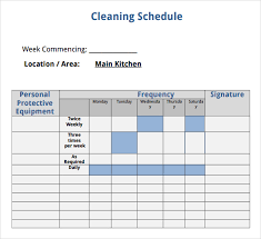 Bathroom Cleaning Schedule Form Checklist Sample In Word Free Rental Inspection Inventory
