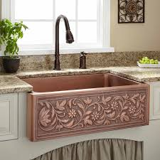 Vine Design Copper Farmhouse Sink Kitchen - Copper sink kitchen
