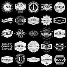 pattern brand logo logo templates vintage workwear thevectorlab