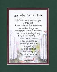 for my aunt u0026 uncle other family members genie u0027s poems