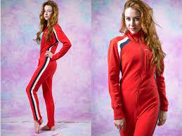 racing jumpsuit vtg 70 s 80 s racing jumpsuit womens striped athletic jumper