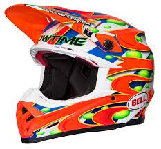 bell helmets motocross bell helmet moto 9 carbon flex mc replica orange limited