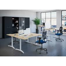 Height Adjustable Office Desks by Buro Sit And Stand Electrical Height Adjustable Office Desk