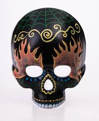 day of the dead masks day of the dead black sugar skull mask flames masquerade costume