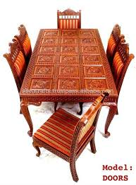 Indian Style Dining Room Sets Indian Style Dining Tables French - Teak dining table and chairs india