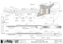 solid body electric guitar plans 8 electronic version american