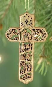 nativity cross ornament booksofthebible