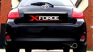 lexus isf xforce xforce toyota corolla my07 performance exhaust youtube