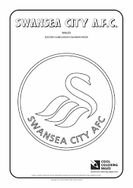 swansea city a f c logo coloring page cool coloring pages