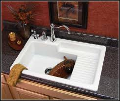 kitchen sink with backsplash kitchen sink with drainboard and backsplash sinks and faucets