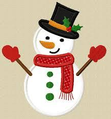 christmas applique instant christmas snowman applique machine embroidery