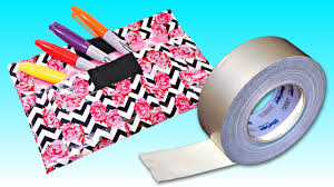 Halloween Duct Tape Crafts How To Make A Pencil Case With Duct Tape Diy Supply