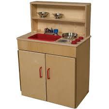 wood designs play kitchen wood designs wd10600 3 in 1 play kitchen center schoolsin
