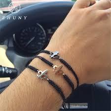 anchor braided bracelet images Zhuny luxury fleur de lis macrame braided bracelet cz beads anchor jpg
