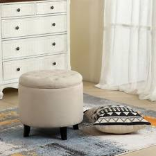 pouf ottoman footstool seat chair round knit living room den sofa