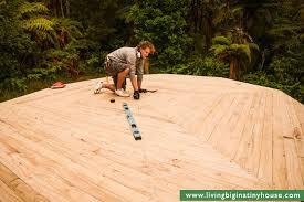tent platform diy deck platform for a belle tent or a yurt living big in a