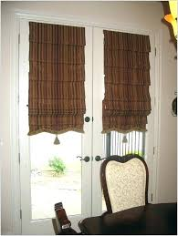 curtains for doors banded bamboo panel family room sliding glass