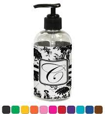toile plastic soap lotion dispenser personalized youcustomizeit