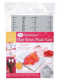 how to make a hair bow easy darice bow2300 bowdabra hair bow kit arts