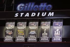 Gillette Stadium Floor Plan by Patriots Fans Cheer 5th Banner Boo Commissioner Goodell Bowling