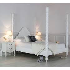 white four poster double bed uk white four poster bed white four