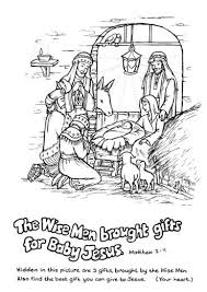 jesus in the manger coloring page christmas nativity free puzzles for kids paper gifts for estefany