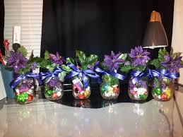 purple flowers closed green leaf and chrismast ornamen inside