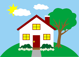 quaint little house on a hill free clip art