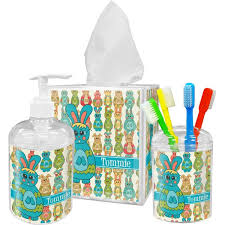 Tropical Bathroom Accessories by Fun Easter Bunnies Bathroom Accessories Set Personalized Potty