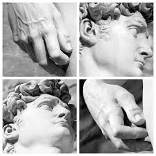focus on details famous sculpture david by michelangelo