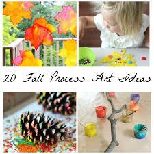 20 beautiful fall process art ideas for kids process art