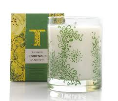 thymes candles thymes indigenous aromatic candle anjou vert