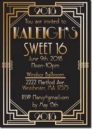 gatsby invitations great gatsby inspired birthday invitations