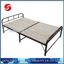 Folding Single Camping Bed Military Folding Camping Bed Wood Folding Bed Single Metal Steel