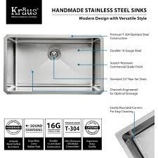 kraus khu100 30 professional stainless steel undermount single
