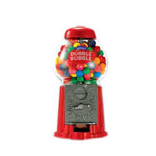 sweet n fun dubble bubble 9 inch diecast gumball bank toys