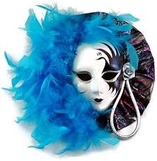 porcelain mardi gras masks mardi gras mask wall decor with turquoise feather