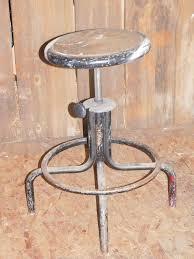 Vintage Industrial Metal Stool Drafting Table Old Adjustable Work