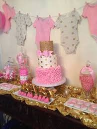 pink and gold baby shower baby shower party ideas gold baby showers