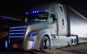 concept semi truck freightliner reveals concept for self driving semi truck