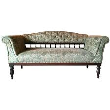 Old Fashioned Sofa Styles Antique Sofa Oak Settee Club Style Victorian Green Velvet 19th