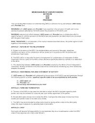 Agreement Letter Template Between Two Parties Sample Memorandum Of Understanding Business Partnership Doc By