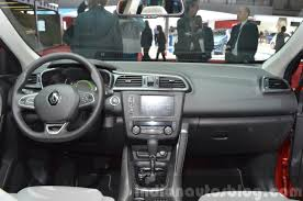 renault kadjar 2015 renault kadjar dashboard at 2015 geneva motor show indian