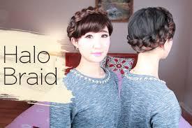 halo braid all things hair youtube