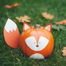 woodland creature no carve pumpkins foxes pumpkin decorating